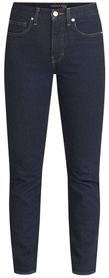 Veronica Beard Ryleigh high waist slim straight leg jeans | 40plusstyle.com