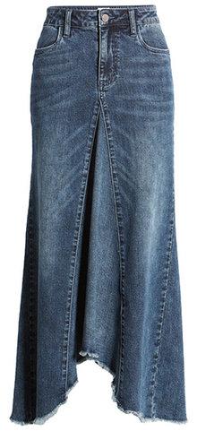 WASH LAB long jean skirt | 40plusstyle.com