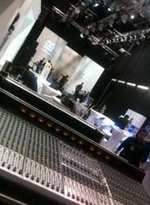 Drapes, Setting up Stage and Sound System at NZ Fashion Week