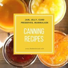 Canning recipes with text