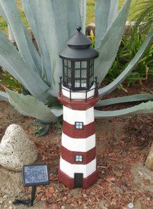 Garden Sunlight Solar Ed Lighthouse Lawn Ornaments
