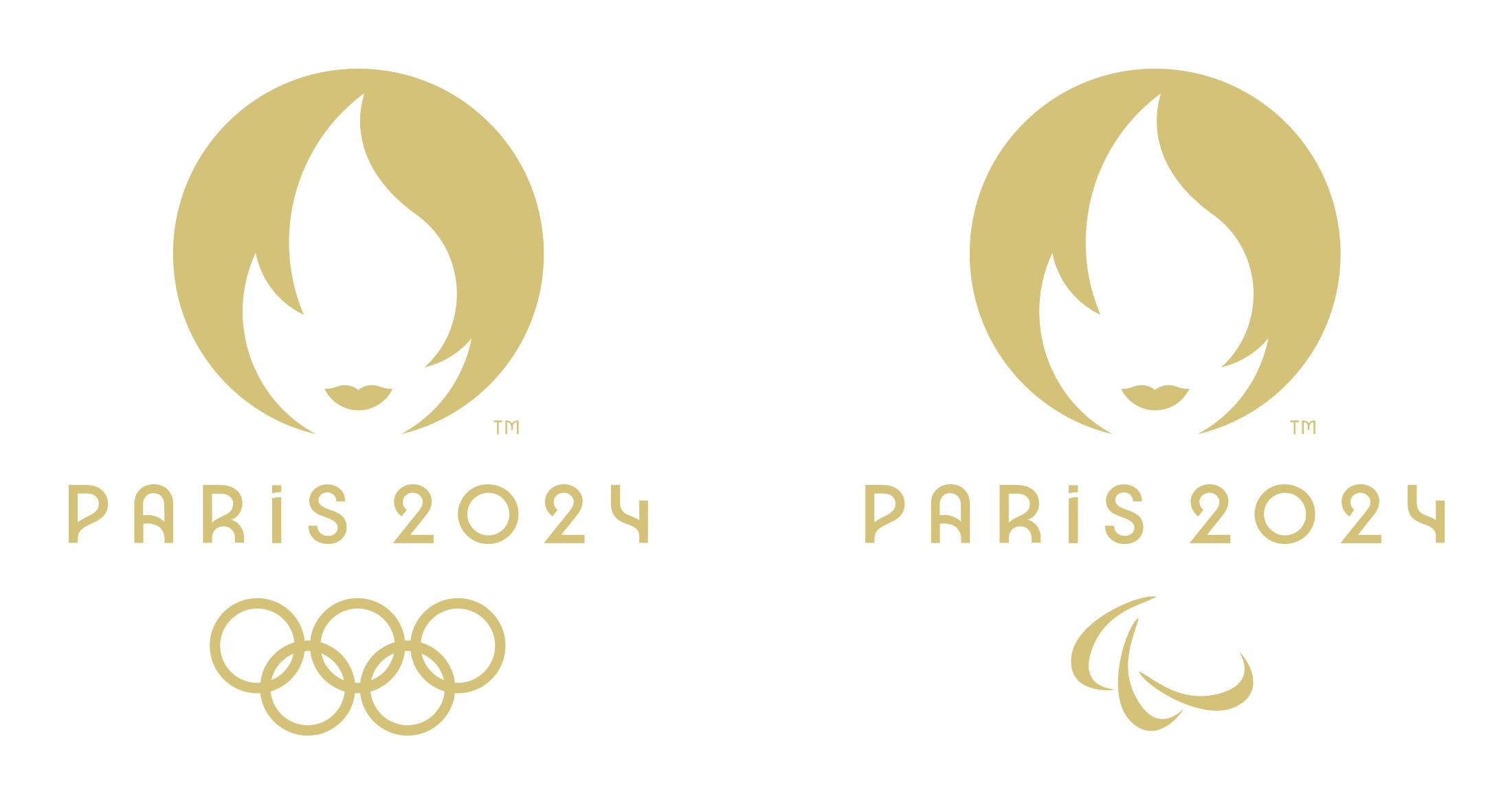 paryż 2024 logo wersja mono