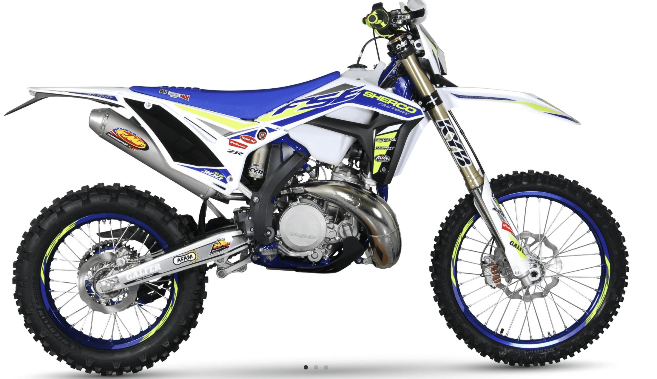 Adult Sherco dirt bike
