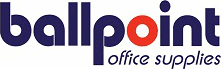Ball point office supplies, Crawley logo