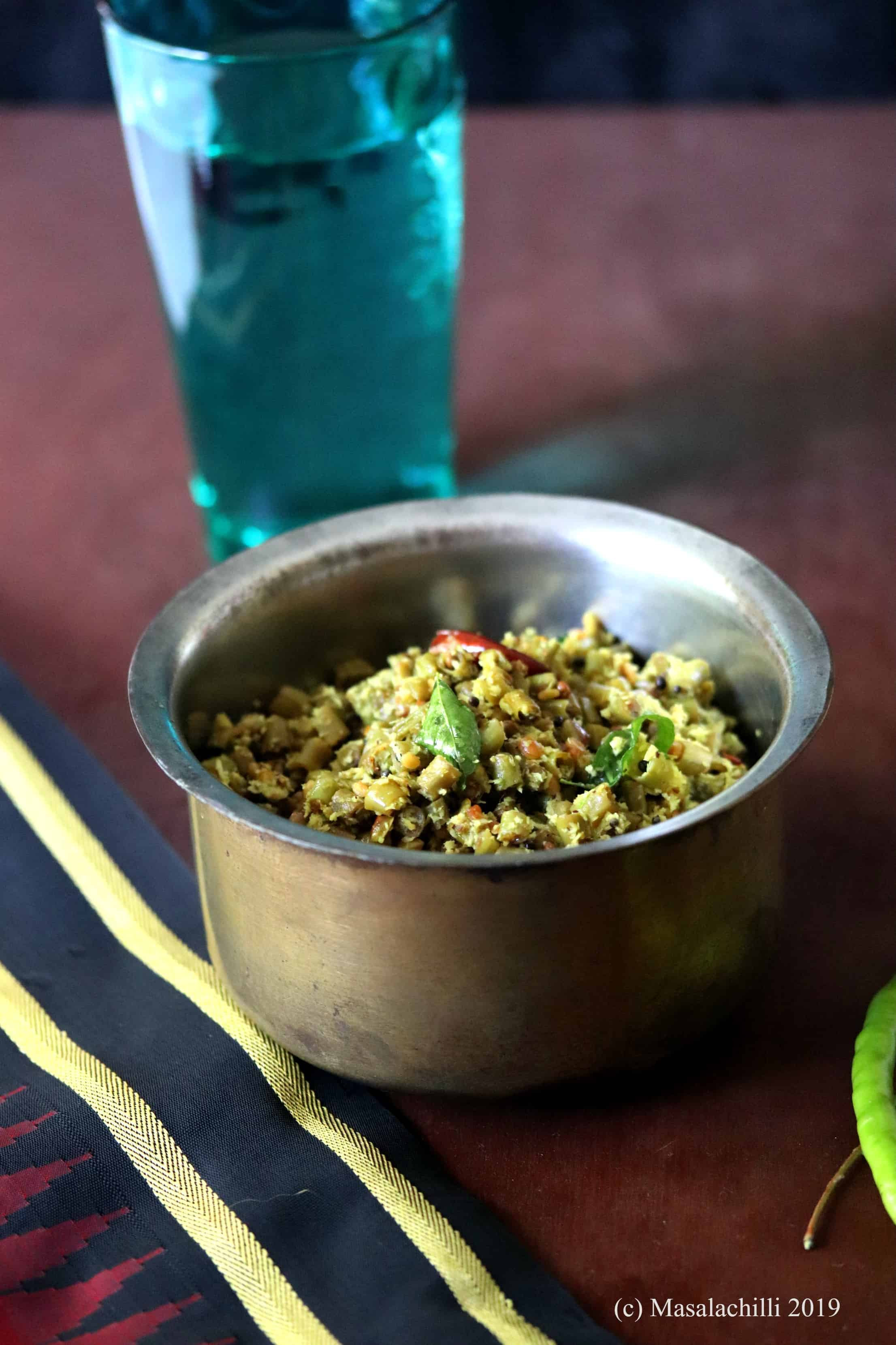 Payar Thoran Recipe
