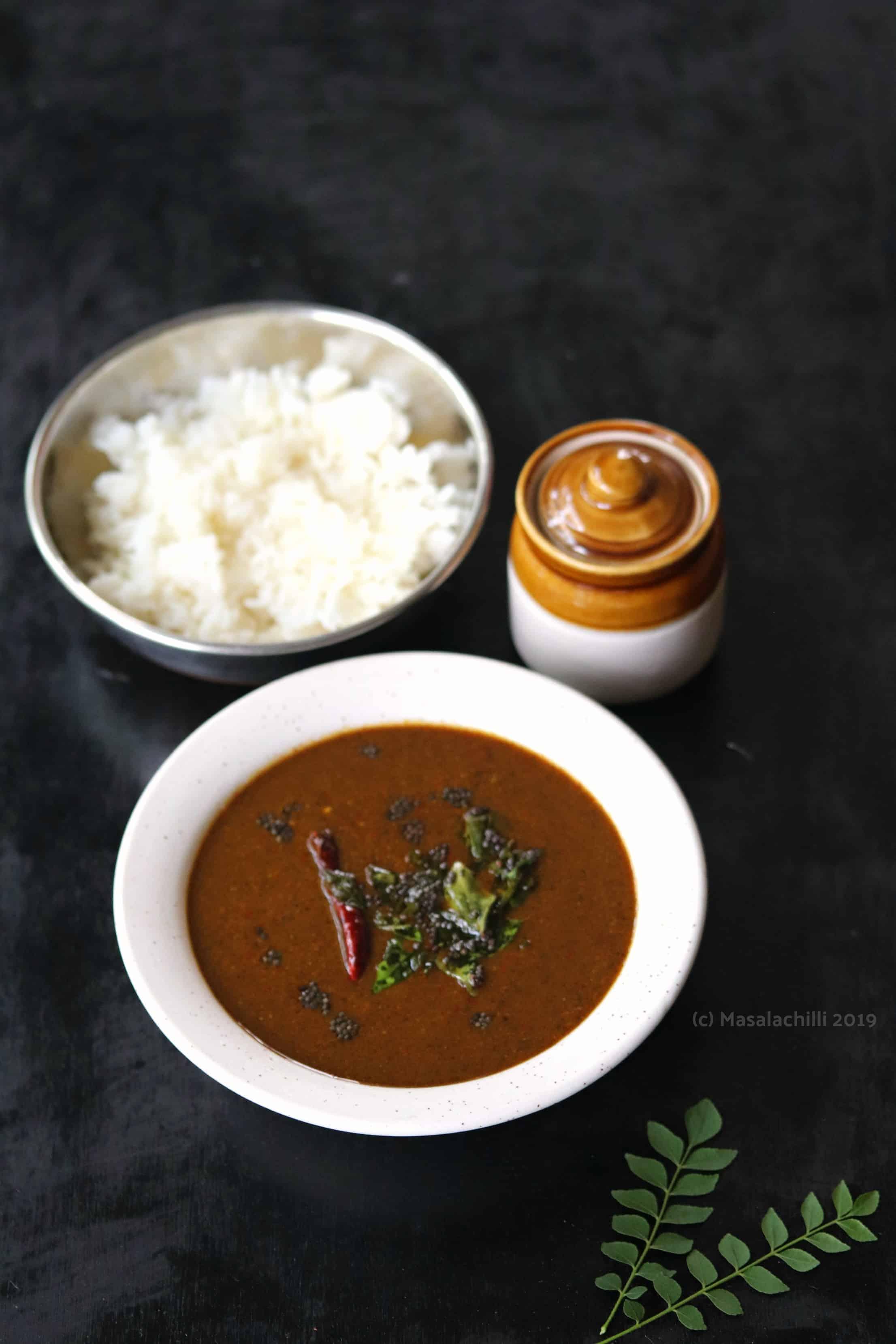 Milagu Kuzhambu (No Onion No Garlic South Indian Pepper Gravy)