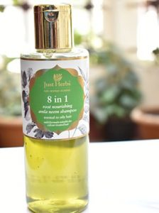 Just Herbs 8 in 1 Root norshing amla neem shampoo review