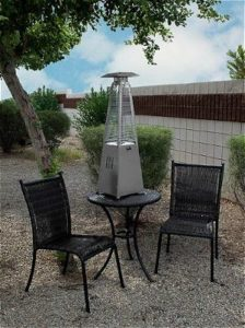 AZ Patio Heaters HLDS032 GTTSS Portable Table Top Stainless Steel Glass  Tube Patio Heater