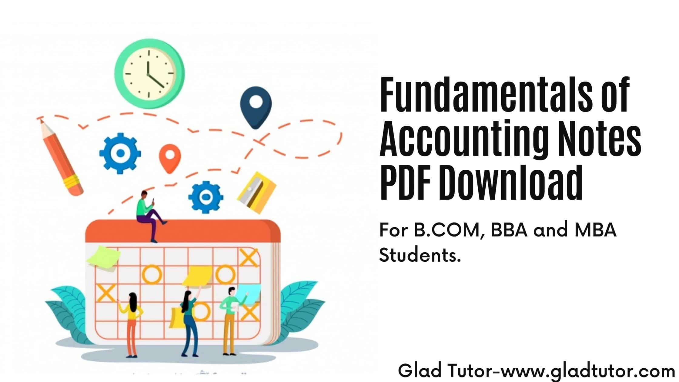 Fundamentals of Accounting Notes