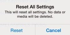 confirm reset all settings on iphone 13.3