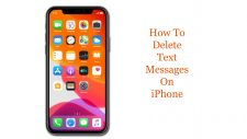 delete text messages on iphone