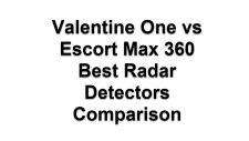 Valentine One vs Escort Max 360