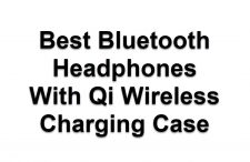 Bluetooth Headphones With Qi Wireless Charging Case