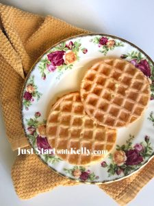chaffle on a plate
