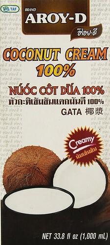Coconut Cream Carton