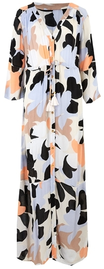 Marks & Spencer floral maxi waisted beach dress | 40plusstyle.com