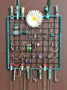 wall hanging jewelry organizer
