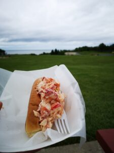 Best lobster roll on Boston and Portland to Acadia National Park drive.