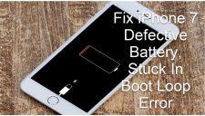 Defective Battery, Stuck In Boot Loop Error