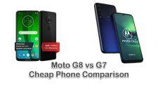 Moto G8 vs G7