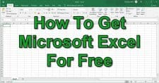 How To Get Microsoft Excel For Free