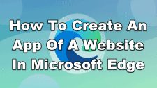 How To Create An App Of A Website In Microsoft Edge