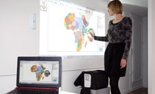 mobile interactive projectors