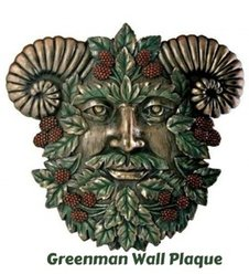 Greenman Summer Wall Plaque. The masculine form of the Divine, The Greenman is an ancient symbol long used by Pagans but also for any of us that celebrate nature.