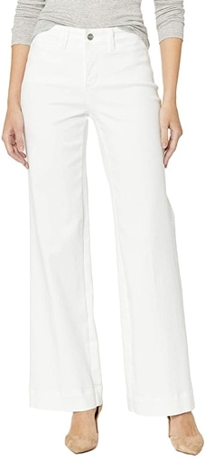 NYDH high waist wide leg trouser jeans | 40plusstyle.com