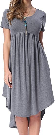 best dresses to hide your tummy - Levaca swing dress | 40plusstyle.com