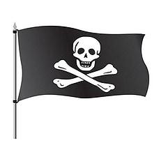 Hemore Bandera de Pirata 150×90cm para La Decoración del Lugar Parezca Más Juvenil de Bandera Calavera