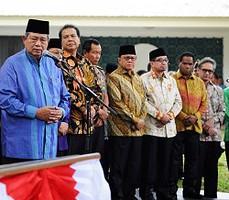 Presiden SBY saat meresmikan asrama mahasiswa RI di Univ Al Azhar, Kairo