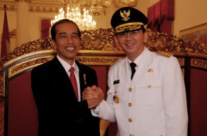 Presiden Joko Widodo dan Gubernur DKI Basuki Tjahja Purnama Slaa