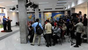 Menteri Keuangan Bambang Brodjonegoro menyampaikan alokasi pengguaan ruang fiskal Rp 230 triliun, di kantor Presiden, Jakarta, Rabu (24/12)