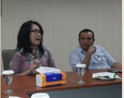 Staf Khusus Seskab Jaleswari Pramodhawardani dalam diskusi LKBN Antara, Jakarta, Kamis (5/3)