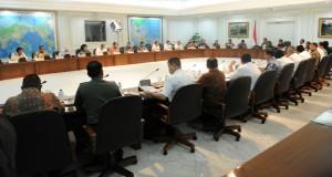 Suasana sidang kabinet paripurna yang dipimpin oleh Presiden Jokowi, di kantor Presiden, Jakarta, Rabu (4/3)