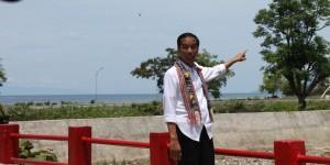 Presiden Jokowi saat mengunjungi perbatasan negara, di Belu, NTT, beberapa waktu lalu