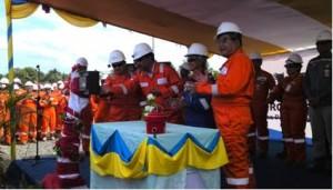 Menteri ESDM Sudirman Said meresmikan Proyek Donggi-Senoro LNG, di Banggai, Sulteng, Rabu (30/4)