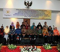 Suasana silaturahmi Mensesneg Pratiko dan Seskab Pramono Anung dengan para mantan pejabat di lingkungan Kemensetneg dan Setkab, di Gedung Krida Bhakti, Jakarta, Rabu (19/8)