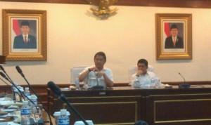 Menkominfo Rudi Antara didampingi Menteri PAN & RB Yuddy Chrisnandi dalam Forum Tematik Bakohumas, di Jakarta, Selasa (15/9) pagi