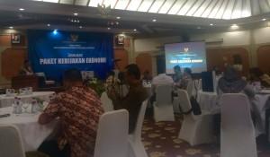 Suasana Forum Tematik Bakohumas yang digelar Kemenko Perekonomian, di Kuta, Bali, Selasa (20/10)