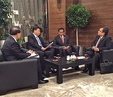 Presiden Jokowi didampingi Menkeu menerima kunjungan Presiden RRT Xi Jinping, d Hotel IC Santai, Antalya, Turki, Minggu (15/11) siang