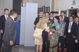 Tiba di Turki, Presiden Jokowi langsung menuju Hotel IC Santai, untuk beristirahat disambut pimpinan hotel, Minggu (15/11) dinihari WIB