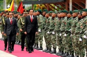 Disambut Pres Timor Leste