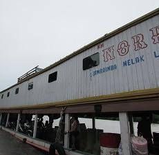 Taksi air Norbudi 2 saat berada di Kampung Batu Majang beberapa waktu lalu. (humas BPPD Kaltim)