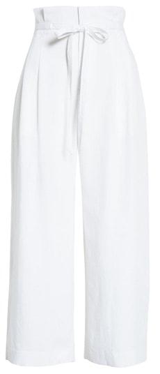 Club Monaco paperbag waist wide leg crop pants | 40plusstyle.com
