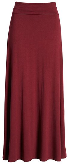 Loveappella roll top maxi skirt | 40plusstyle.com