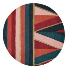 bordowo zielony dywan okrągly Sahara Round Burgundy 56105