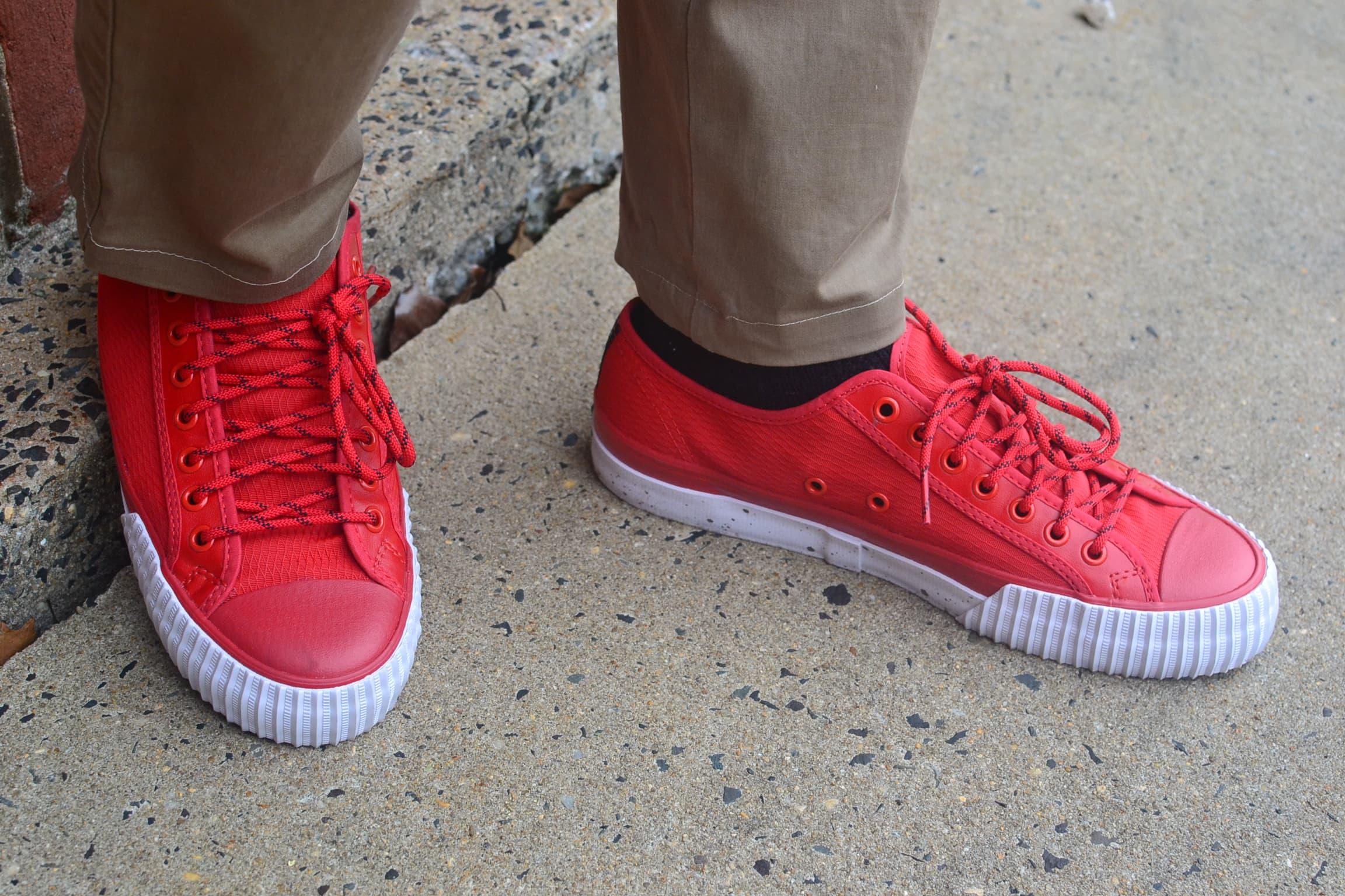 Sabir M. Peele in PF Flyers Nylon Sneakers