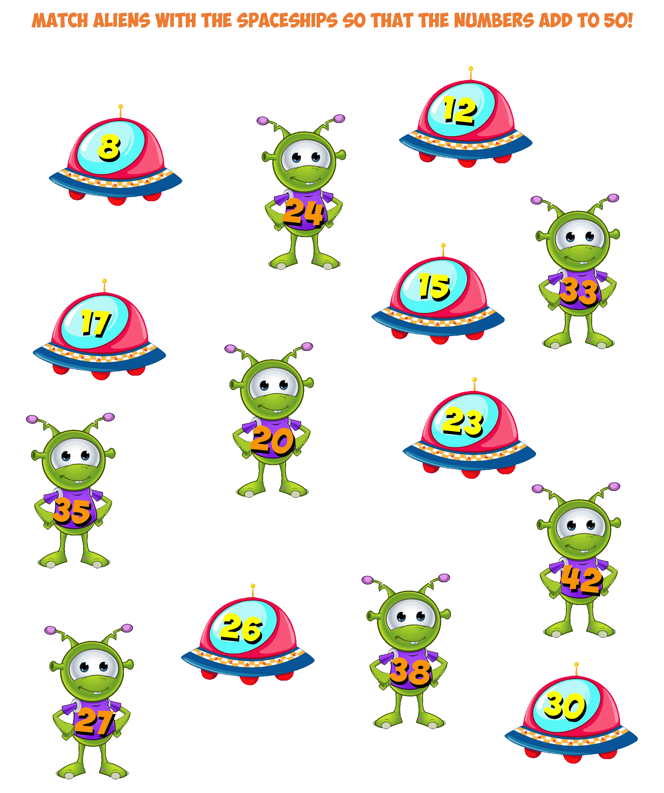 Alien Worksheet 3- 50